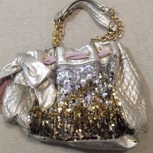 Limited edition sequin juicy couture bag